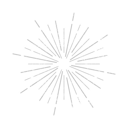 Sunburst rays icon sign. Grunge effect. Vector