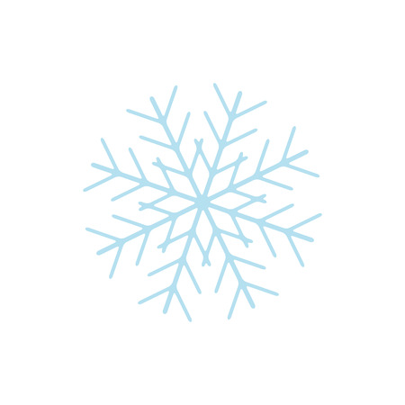 Snowflake icon sign isolated on white back Vectores