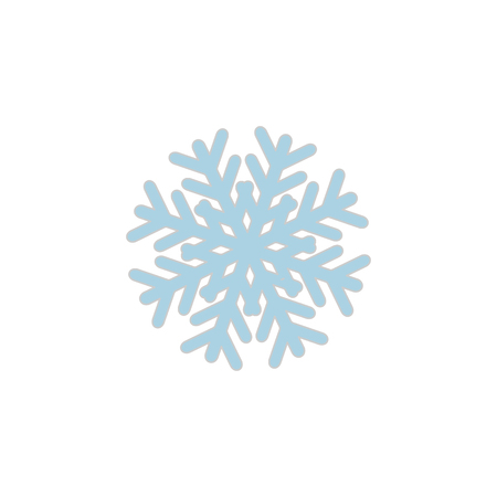 Snowflake icon sign isolated on white back Stock Illustratie