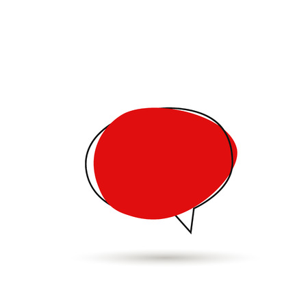 Speech bubble sign icon with shadow. Vector Stock Illustratie