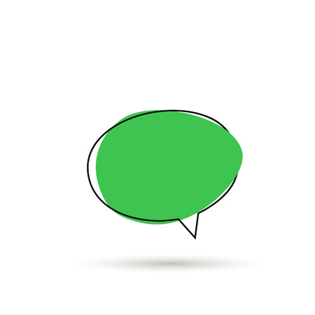 Speech bubble sign icon with shadow. Vector Zdjęcie Seryjne - 127309668