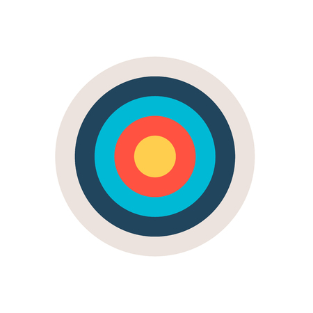 Target icon. Sport or business concept. Vector