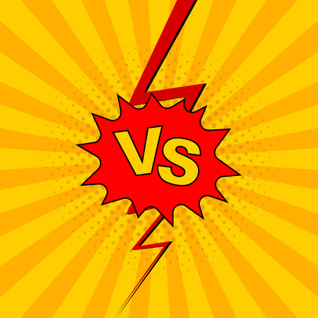 Versus VS lettering fight background.