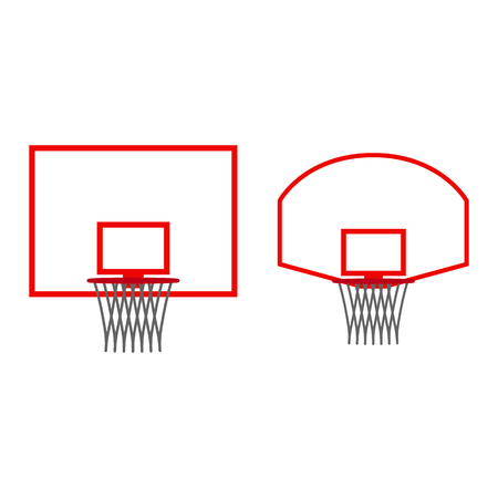 Basketball hoop icon isolated on white background