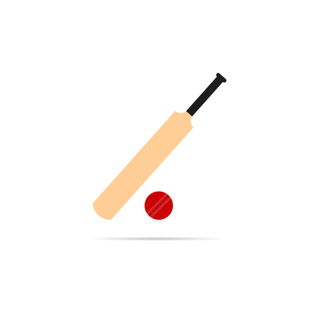 Cricket bat icon isolated on white back Ilustracja