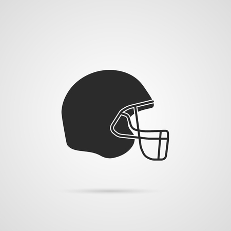 American football hemlet icon. Vector eps10 illustration