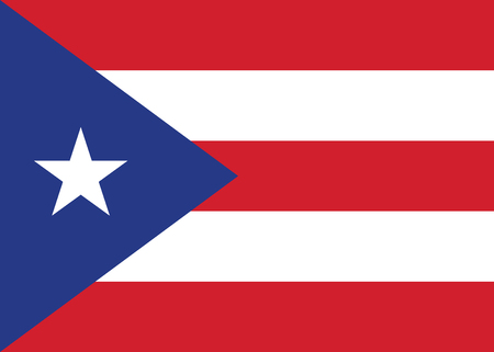 Puerto Rico national flag. Political background. Vector Ilustracja
