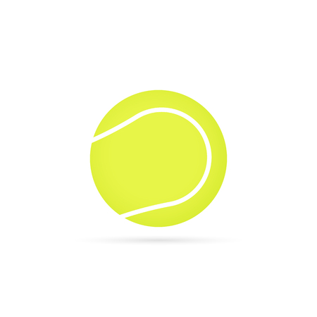 Tennis ball icon with shadow. Vector eps10