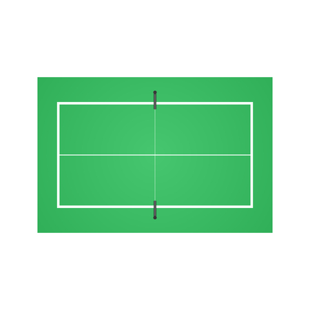 Tennis table background isolated on white back