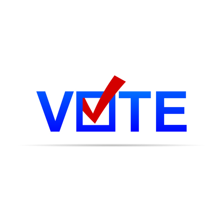 Vote sign with check mark. Vector eps10