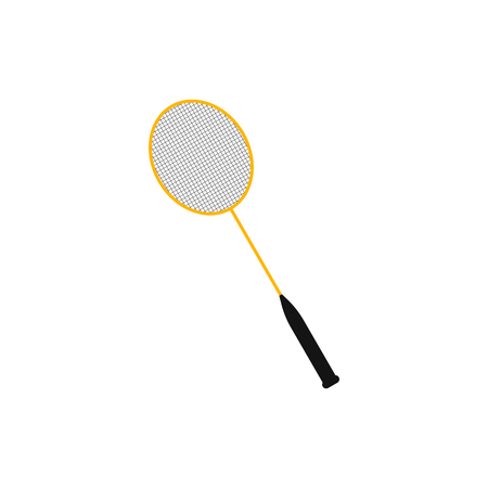 Badminton racket icon isolated on background. Vector