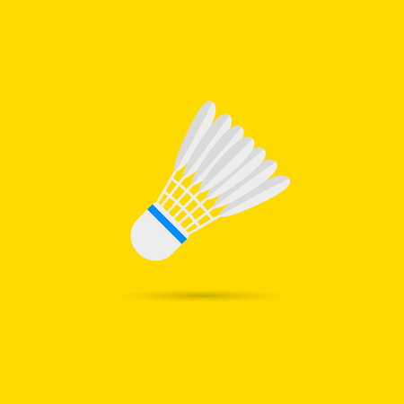Badminton shuttlecock icon with shadow.