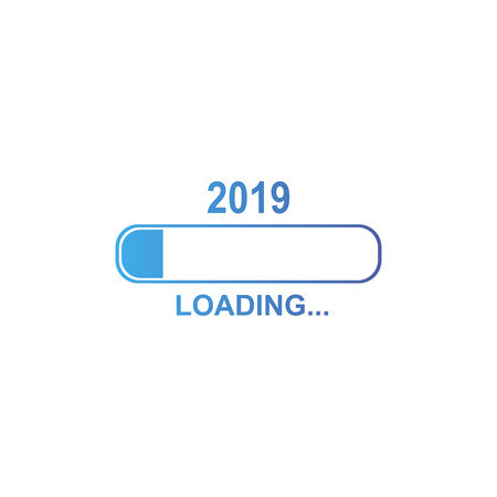 2019 loading icon. 2019 new year concept. Vector eps10