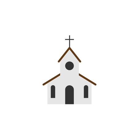 Church icon. Flat style. Religion icon. vector