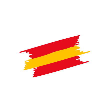 Flag brush Spain on white back. Vector Ilustracja
