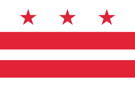 Flag Washington DC. Background United States State Çizim