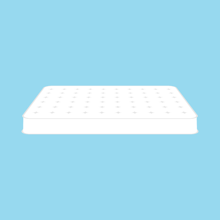 Mattress icon on blue background. Vector eps10