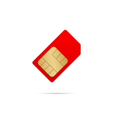 Sim card icon isolated on white background. Vector eps10