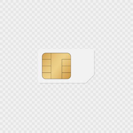Sim card icon on transparent back. Vector eps10