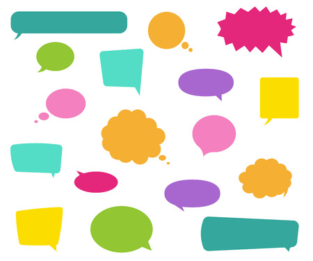 Speech bubbles set different colors. Vector eps10