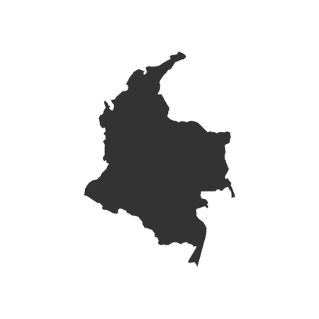 Vector Colombia map isolated on white background