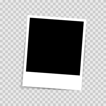 Retro-Fotorahmen auf transparentem Hintergrund isoliert