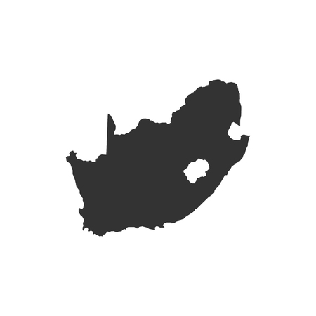 Vector South Africa map isolated on white background