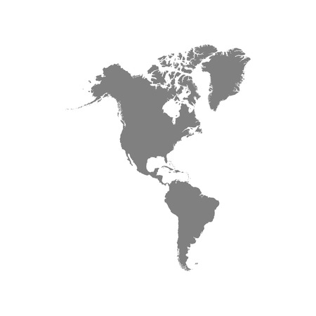 North and South America map. Vector eps10