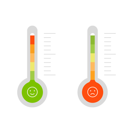 Credit score thermometer isolated on white background Standard-Bild - 124254649