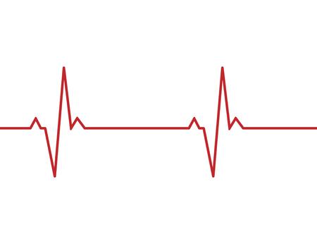 Heartbeat line background icon. Medical illustration. Vector Standard-Bild - 124254653