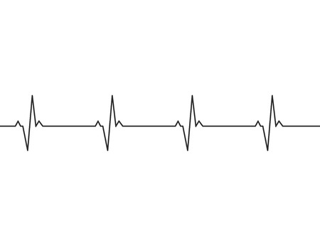 Heartbeat line background icon. Medical illustration. Vector Standard-Bild - 124254654