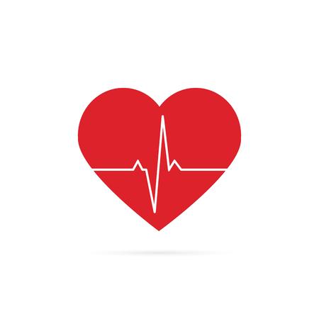 Herzschlag-Linie Hintergrundsymbol. Medizinische Abbildung. Vektor