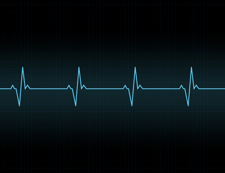 Heartbeat line background icon. Medical illustration. Vector Standard-Bild - 124254655