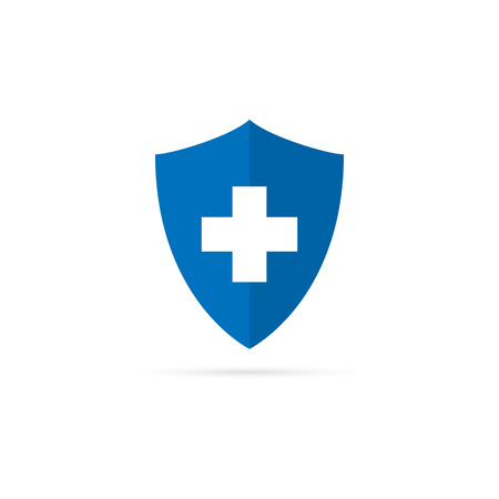 Medical shield icon with shadow. Vector eps10 Ilustrace