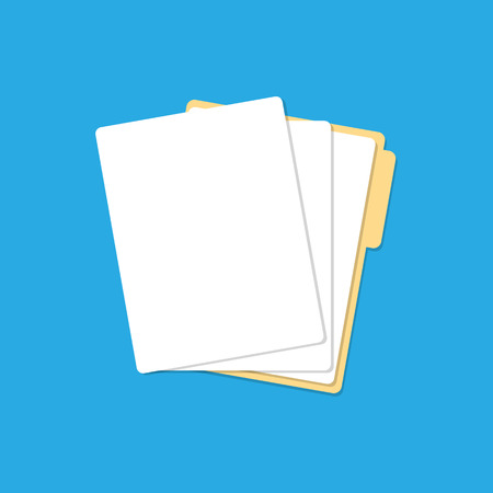 Paper lists folder icon with shadow. Vector Standard-Bild - 124254664