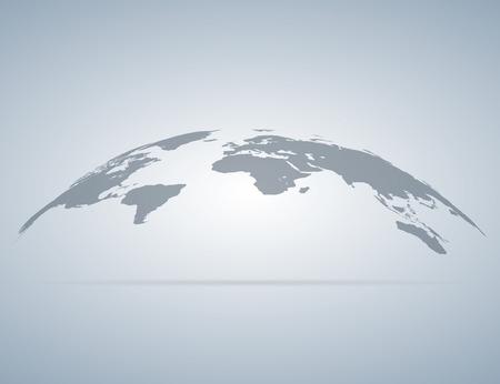 World map globe with shadow. Vector eps10 Standard-Bild - 124254682