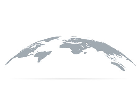 World map globe with shadow. Vector eps10 Standard-Bild - 124254683