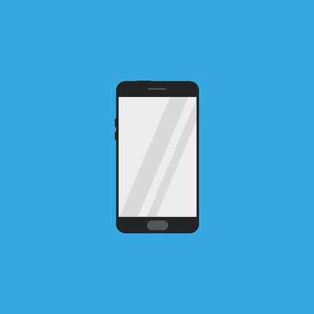 Smartphone icon flat style on blue background Standard-Bild - 124189969