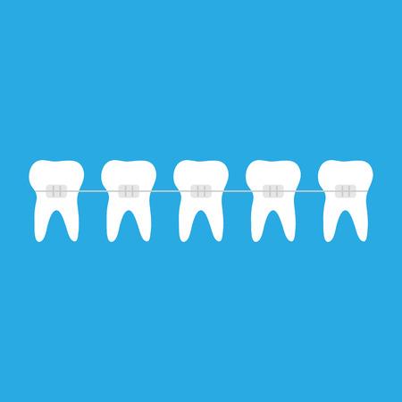 Braces with tooth icon symbol. Standard-Bild - 123641440