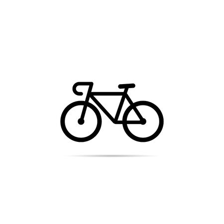 Bicycle icon with shadow. Simple design. Stock Illustratie