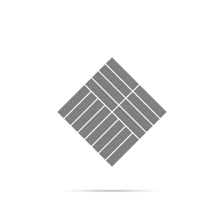 Parquet icon symbol with shadow.