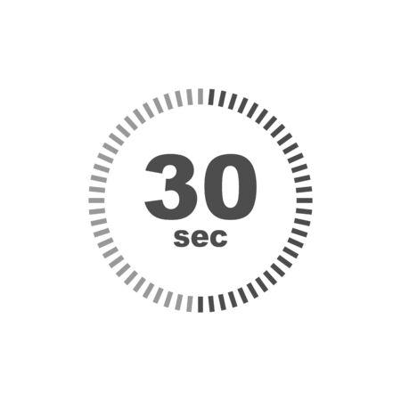 Timer 30 sec icon. Simple design.