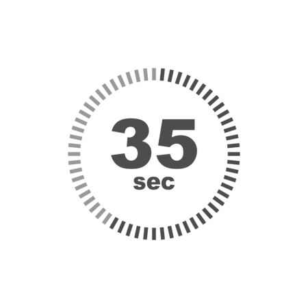 Timer 35 sec icon. Simple design. Vector eps10