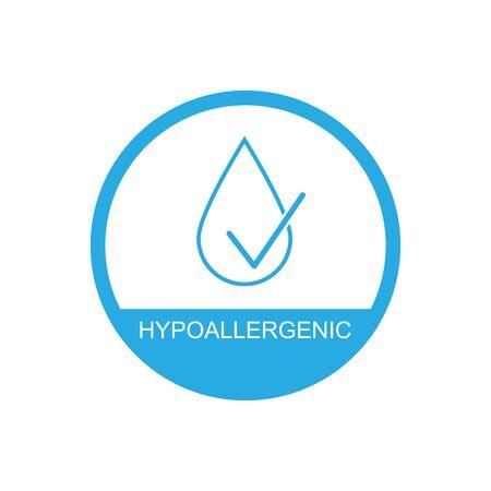 Hypoallergenic icon symbol simple design.