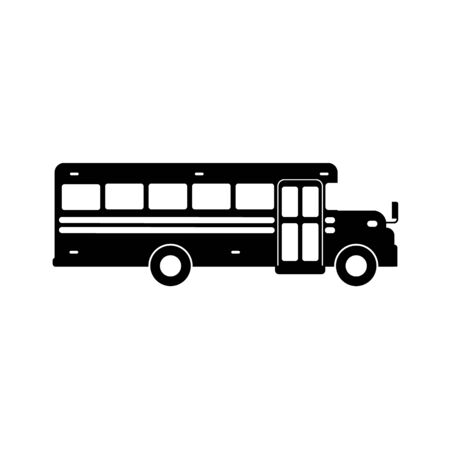 School bus icon simple design on white background