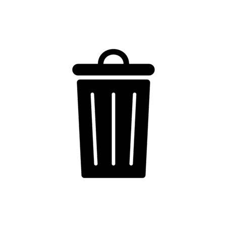 Trash icon symbol simple design on white background