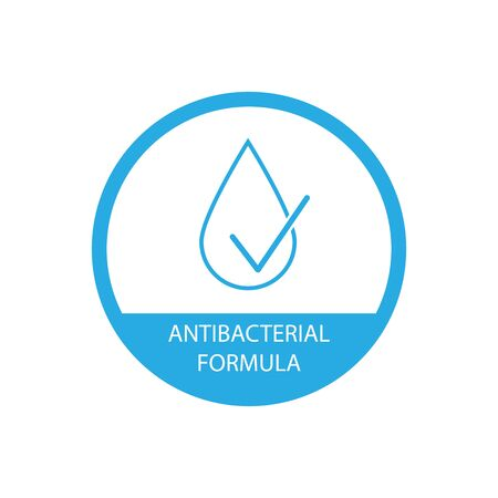 Antibacterial formula icon simple design on white background Stock Illustratie