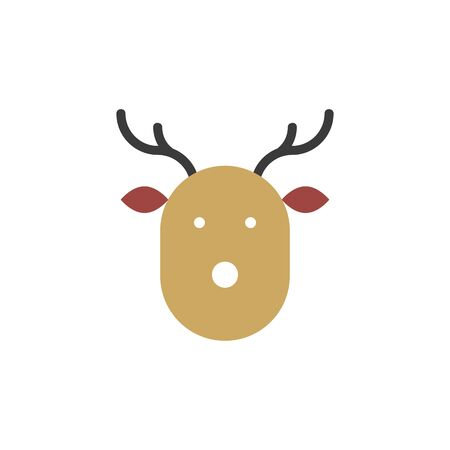 Christmas deer icon simple design. Vector eps10