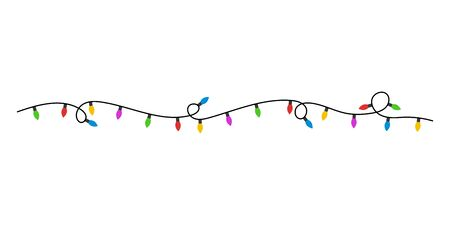 Christmas lights flat style. Vector. Vector eps10