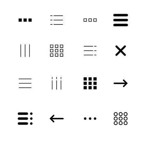 Menu and ui icons set. Vector eps10 Ilustração